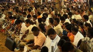 Musicians paying homage to Sri Thyagaraja