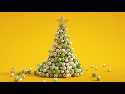 C4D Christmas Tree – Cinema 4D Tutorial (Free Project)