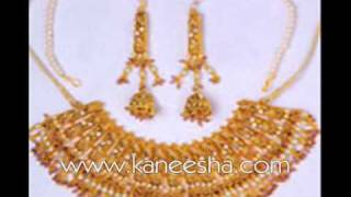 Ethnic Indian Gold Jewelry, Enameled Gold Plated Jewelry