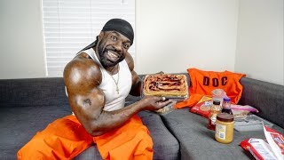 5,000 Calorie Cake (Peanut Butter Cake) - Cooking With Kali Muscle