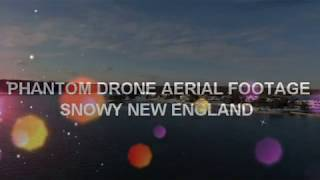 DJI PHANTOM DRONE SOARING OVER SNOWY NEW ENGLAND with RELAXING MUSIC!!!