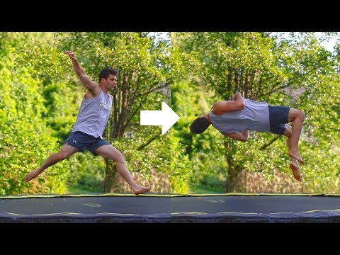 Learn The Cheat Gainer to Learn The Backflip On The Trampoline