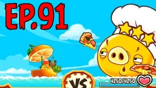 Angry Birds Fight! - SUPER PIZZA CHEF PIG- GOLDEN PIZZA BAR (SS RED) - EP91