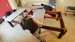 Full size 12ft Riley Snooker table installation time lapse in Phoenix, AZ. Fitting by Riley England
