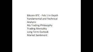 Bitcoin BTC - Feb 1 In-Depth Fundamental and Technical Analysis