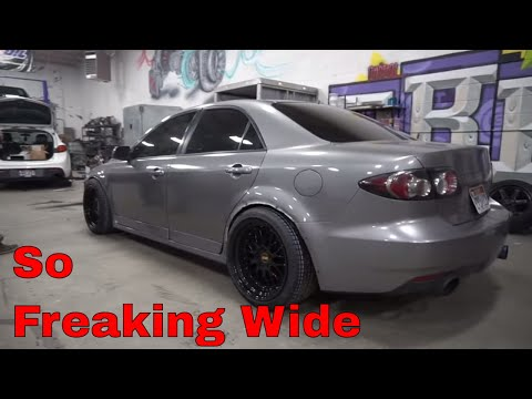 Stupid wide Wheel install - Mazdaspeed 6