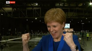 video: Scotland election results: Nicola Sturgeon celebrates SNP tidal wave - but Tories rule out IndyRef2