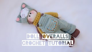 Tilda Doll Overalls Crochet Tutorial😘😘