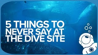 5 Things To Never Say At The Dive Site