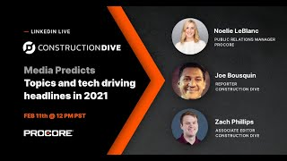 Procore + Construction Dive – Media Predicts