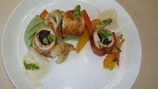 Куриный рулет с черносливом / Курячий рулет з чорносливом/ Chicken roll with prunes