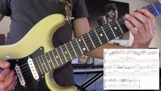 preview picture of video 'Guitar Lesson - Licks for use with my Am Rock Jam track'