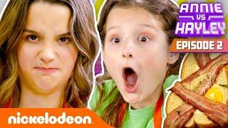 Annie & Hayley LeBlanc Make Their Mom Breakfast! 🍳 Annie vs. Hayley: Ep 2 | Nick