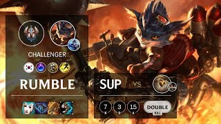 Rumble Support vs Bard - KR Challenger Patch 10.9