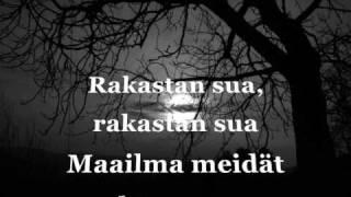 Tauski   Rakastan Sua (lyrics)