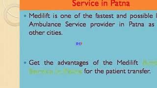 Take Medilift Ambulance Service in Delhi with Full ICU Setups