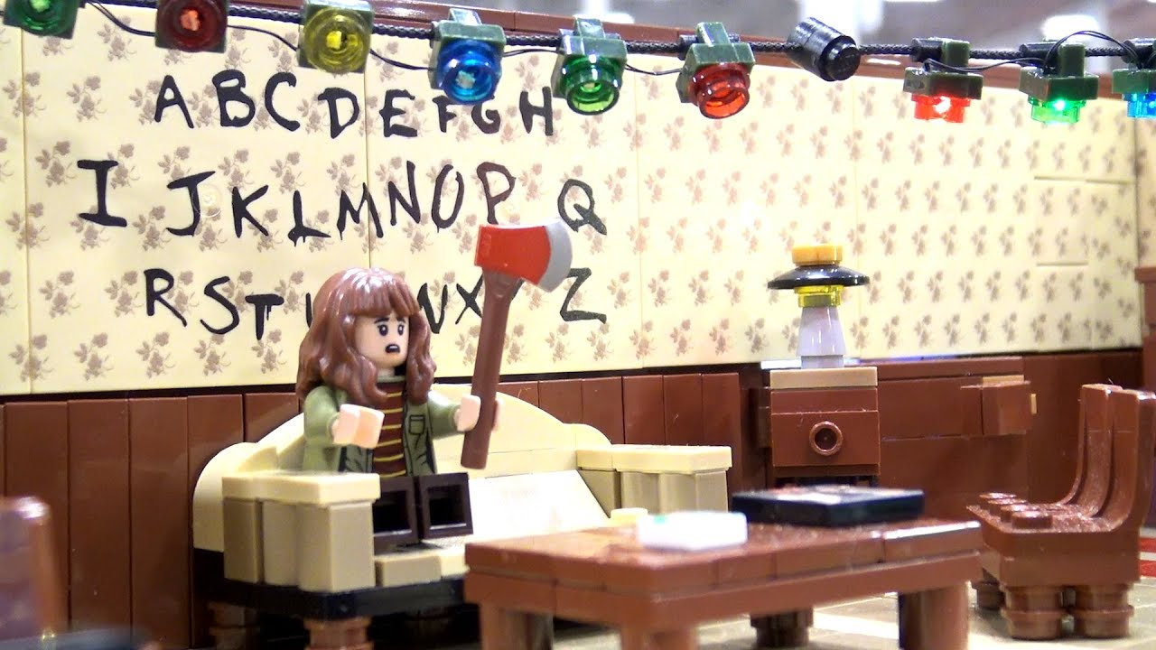 LEGO Stranger Things Scenes + Upside Down Versions