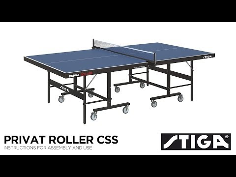 Stiga Privat Roller CCS Indoor Table Tennis Table Assembly
