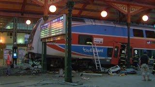 Nehoda vlaku Praha Masarykovo nádraží