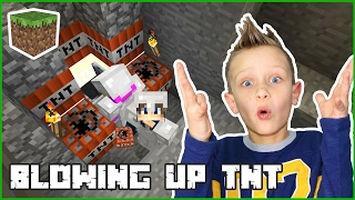 Blowing Up TNT With Karina  Minecraft Realm
