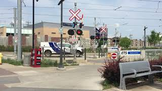 MacEwan Station Southbound Track Pedestrian Railway Crossing, Edmonton, AB