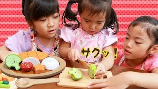 Woody Puddy 木のおままごと遊び  Play House Cooking Set