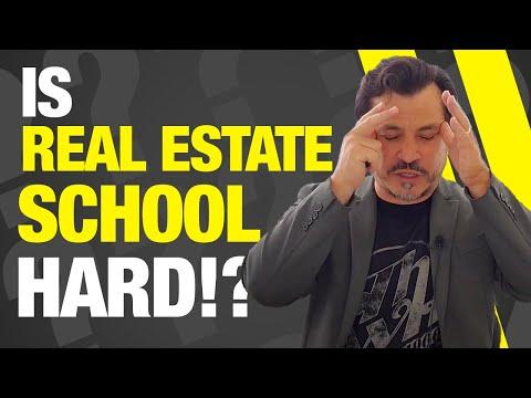 Is Real Estate School Hard? - YouTube