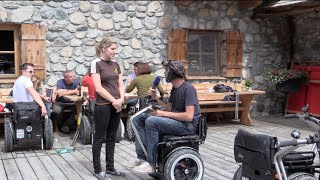 preview picture of video 'Rollstuhl Hütte Kasplatzl Ausflüge Kitzbühel'