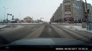 Нарушение ПДД 06.02.2017 Астана / Road accident 06.02.2017 Astana