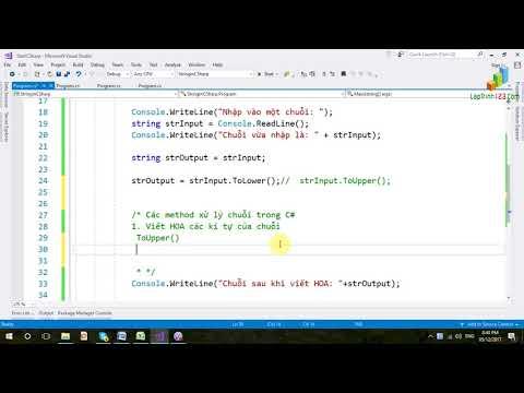 VD32 - Các method về String - Part 1