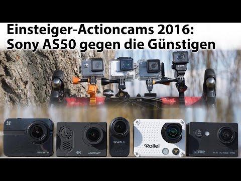 Test: Einsteiger Action Cams 2016 - Sony HDR-AS50 gegen die Günstigen