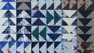 Quilt Block:  Flying Geese From Strips
