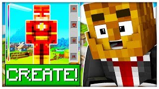 *THE FLASH* BUILD YOUR FAVORITE SUPERHERO! - MINECRAFT MODDED DC SUPER HERO CREATOR