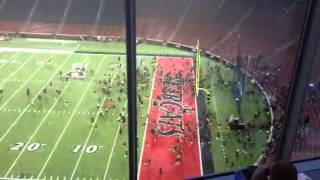 UC students storm field