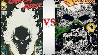 Marvel Ghost Rider VS DC Comics The Spectre Glow In The Dark Comic