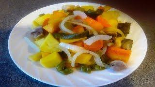 Правильное питание (ПП). Диетические рецепты. Тыква и овощи на пару в рукаве.