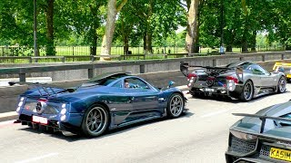 MULTIMILLION Dollar Pagani Zondas TAKEOVER the streets of London!