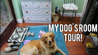 Tinka-Belles Dog Room Tour! + Tricks, Toys & Treats!| Claudia Greiner