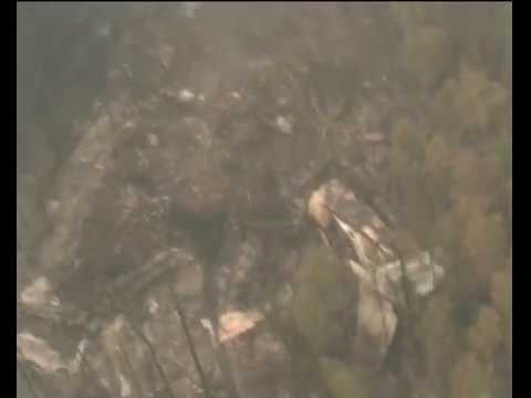 Видео с места крушения самолета в Иркутской области