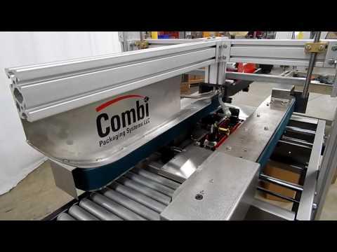 Selladora de cajas semiautomática TBS-100SA con motor neumático