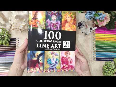 100 line art coloring pages. Part 2.