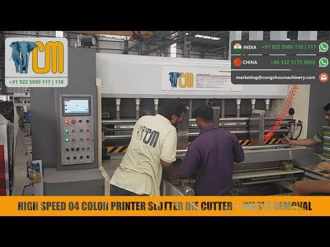Printer Slotter Die Cutter Machine