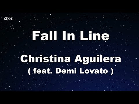 Fall In Line ft. Demi Lovato - Christina Aguilera Karaoke 【No Guide Melody】 Instrumental