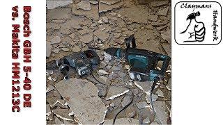Vergleich Makita HM1213C Stemmhammer vs. Bosch GBH 5-40 DE Bohrhammer | Fliesen entfernen | Test