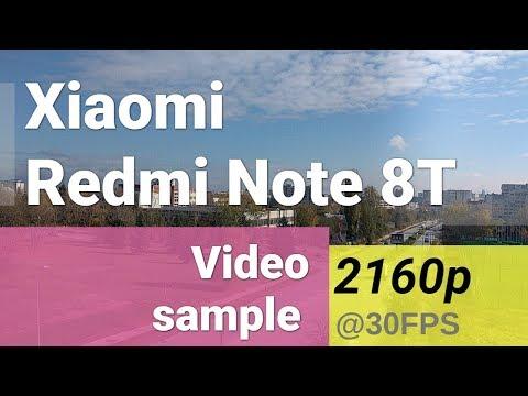 Xiaomi Redmi Note 8T 2160p video sample