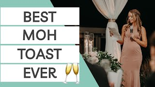 How to Write the Best Maid of Honor Toast Ever + 2 REAL Maid of Honor Speech Examples