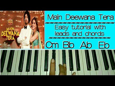 Guru Randhawa: Main Deewana Tera - Easy Piano Tutorial | Diljit Dosanjh, Kriti Sanon, Arjun Patiala