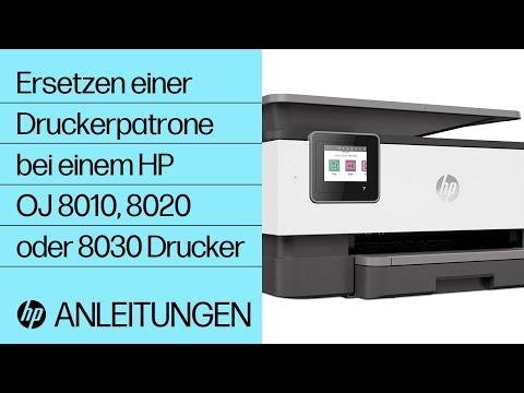 Ersetzen einer Druckerpatrone bei einem Drucker der HP OfficeJet 8010, OfficeJet Pro 8020 oder 8030 Druckerserie