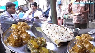 Alu Paratha and 3 Different Sabji (Veg) Curry Chatni Only 25 Rs Per Plate | Kolkata Street Food