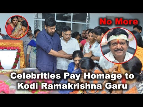Celebrities Pay Homage to the Great Director Kodi Ramakrishna